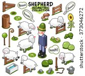 assorted sheep collection with... | Shutterstock .eps vector #373046272