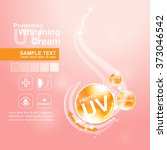 protection uv and whitening... | Shutterstock .eps vector #373046542