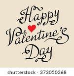 happy valentine's day vintage... | Shutterstock .eps vector #373050268