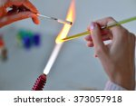 woman's hands with tools for... | Shutterstock . vector #373057918