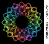 Abstract Rainbow Mandala...