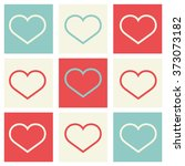 valentine's day postcard  ... | Shutterstock .eps vector #373073182