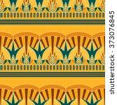 seamless vector traditional... | Shutterstock .eps vector #373076845
