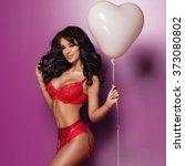 Sexy Brunette Valentine Woman...