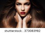 hair  healthy long hair ... | Shutterstock . vector #373083982