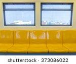 interior of a modern subway car ...   Shutterstock . vector #373086022