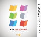 book vector elements   color set | Shutterstock .eps vector #373088512