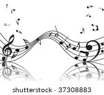 vector musical notes staff... | Shutterstock .eps vector #37308883