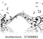 vector musical notes staff... | Shutterstock .eps vector #37308883