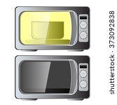 microwave oven | Shutterstock .eps vector #373092838