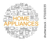 icons of home appliances... | Shutterstock .eps vector #373103155