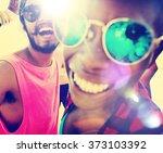 friends friendship vacation... | Shutterstock . vector #373103392