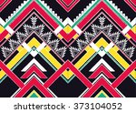 geometric ethnic pattern... | Shutterstock .eps vector #373104052