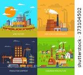 industrial factories and... | Shutterstock . vector #373104502