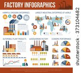 industrial infographics with... | Shutterstock . vector #373104682