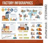 industrial infographics with... | Shutterstock . vector #373104682