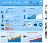 drones applications infographic ... | Shutterstock . vector #373104742