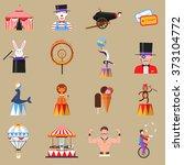 circus retro flat icons set... | Shutterstock . vector #373104772