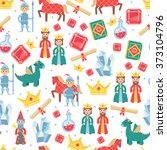 fairytale seamless pattern   Shutterstock . vector #373104796