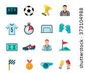soccer icons set | Shutterstock . vector #373104988