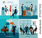 office workers set | Shutterstock . vector #373107232