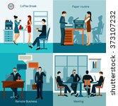 office workers set | Shutterstock . vector #373107232