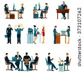office worker icons | Shutterstock . vector #373107262