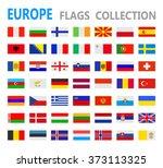 european flags   vector... | Shutterstock .eps vector #373113325