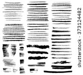 brush stroke collection. | Shutterstock .eps vector #373124482