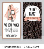 invitation for wine party  can... | Shutterstock .eps vector #373127695