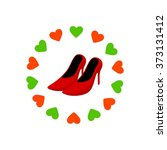 shoes beauty woman logo template | Shutterstock .eps vector #373131412