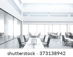 modern open space office with... | Shutterstock . vector #373138942