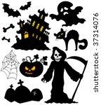 set of halloween silhouettes  ... | Shutterstock .eps vector #37314076