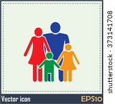 happy family icon in simple...   Shutterstock .eps vector #373141708