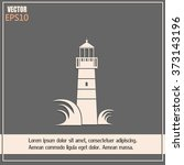 vector icon lighthouse | Shutterstock .eps vector #373143196