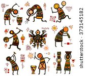 african ethnic patterns of... | Shutterstock .eps vector #373145182