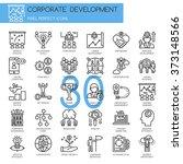 corporate development   thin... | Shutterstock .eps vector #373148566