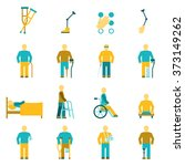 people with disabilities icons... | Shutterstock . vector #373149262