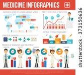 medical infographics set | Shutterstock . vector #373150636