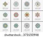 mandala. vintage decorative... | Shutterstock .eps vector #373150948