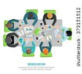 business meeting flat | Shutterstock . vector #373151512