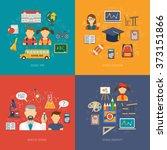 education flat set | Shutterstock . vector #373151866