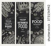 vietnamese food banner... | Shutterstock .eps vector #373156942