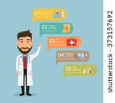 infographic step for patient to ... | Shutterstock .eps vector #373157692