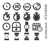 time icon set | Shutterstock .eps vector #373158508