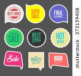 modern sale stickers collection | Shutterstock .eps vector #373159408