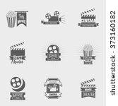 set of vector cinema logos and... | Shutterstock .eps vector #373160182