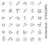 outline web icons set  ... | Shutterstock .eps vector #373161892