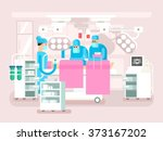 operating room design | Shutterstock .eps vector #373167202