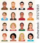 set of avatars icons men and... | Shutterstock . vector #373172815
